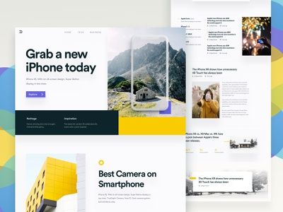 Grab - Layout Experiment mockup bold landing page iphonexs iphonex best website 2018 ui 2018 trends