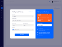 Add payment method - popup