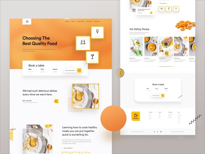 Food Home Delivery Web Concept For 2019 web design ui 2019 creative delivery food web concept