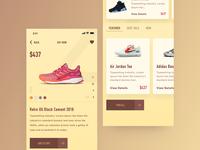 Sneakers App UI