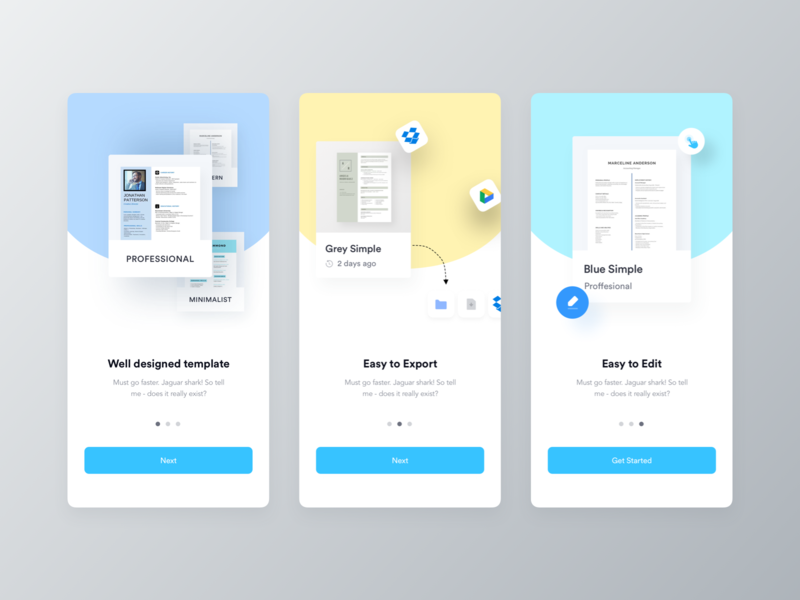 Ezy Cv Builder App Walkthrough By Ofspace Team On Dribbble
