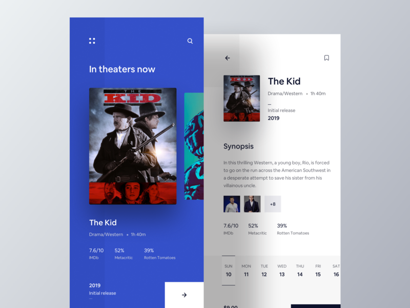 Movie Ticket Booking App. 2019 trends new movie app movie character wstyle movie card movie booking ticket booking movie app dailyui ios app typography ios app luova studio ux design ui