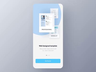 EZY - CV Builder App ( Walkthrough) micro interaction interaction animation ui design ux luova studio app ios android cv app case study job app builder cv maker walkthorugh cv template resume easy cv maker