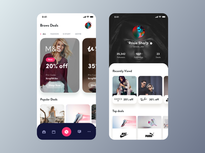 Top Deals Around You buy shop fashion mobile app design new app rounded card ios app deals sale