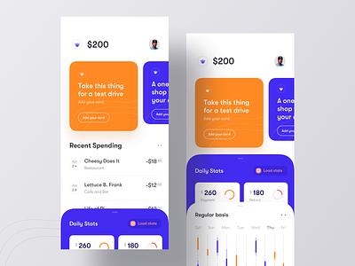 Financial iOS App Concept ui design app ui mobile ui app ios finance