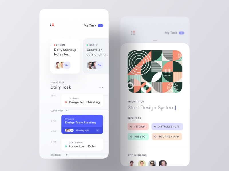 Brand New To Do App UI mobile editorial daily minimal app concept ios app design clean ui task app to do app todo list todo app assign text field daily task task todo