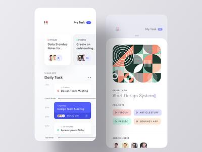 Brand New To Do App UI mobile editorial daily minimal app concept ios app design clean ui task app to do app todo list todo app assign text field daily task task todo