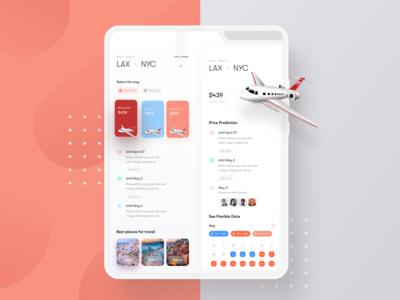 Flight Booking App For Galaxy Fold