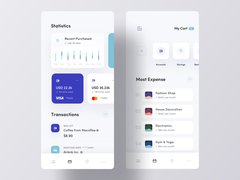 Personal Expense Manager App UI by Luova Studio on Dribbble