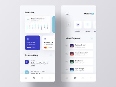 Personal Expense Manager App UI bank financial app payment app ios app design ios app app ui ux clean ui luova studio mobile app design statistic ui app