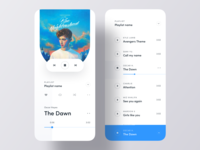 Minimal Music Player iOS App Concept
