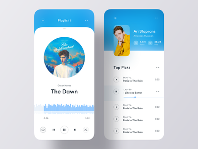 Music iOS App UI mobile app design app ui ios app spotify top picks song play music player music app ui