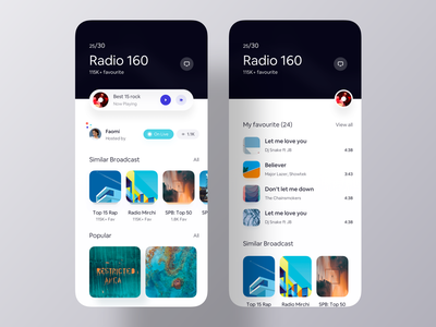 Profile - Radio Playlist inspiration app design inspiration mobile app design app design app ui ios app play list song playlist profile player music radio