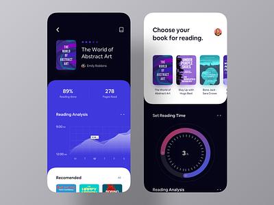 Book Analysis App UI list set time reading time design agency mobile app design design inspiration ui inspiration app inspiration ui design app ui ios app book store