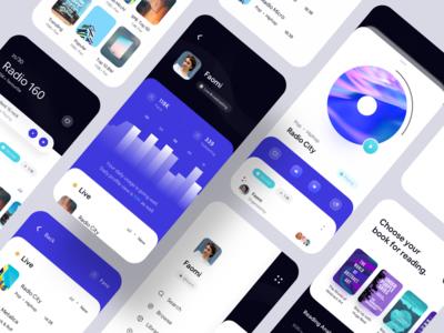Mega E-book and Broadcast iOS UI Kit