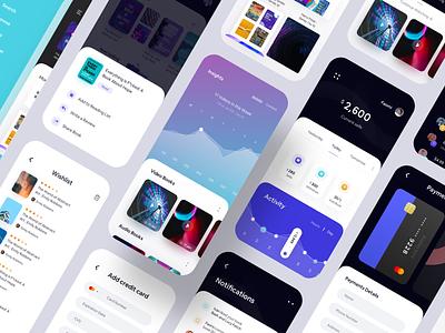 Mega E-book and Broadcast iOS UI Kit luova studio inspiration ui design ios app design chart graph ios13 iphone ui kit broadcasting mega ui kit