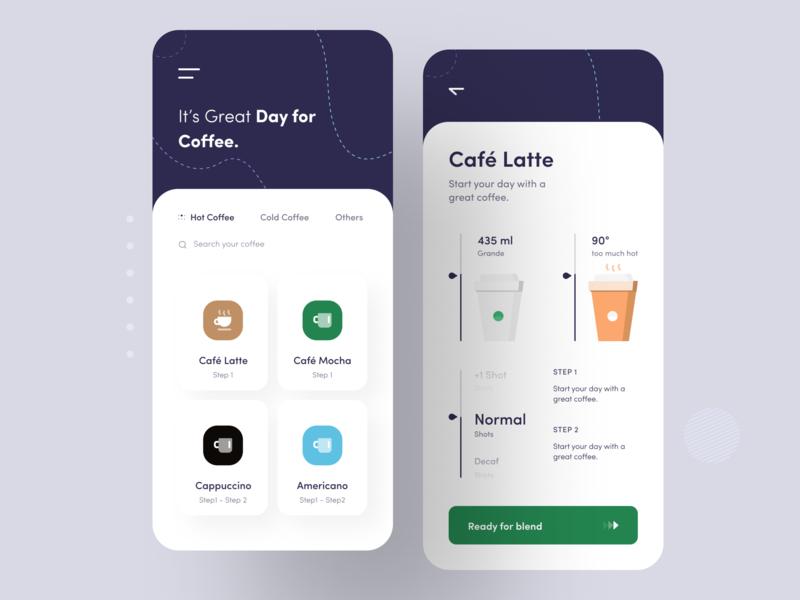Coffee Maker App Concept app designers ui design coffee maker day for coffee coffee maker app coffee ios app design app design