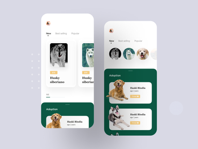 Pet Adoption App Concept app inspiration animal lover doggy app concept app design ios app animal adoption dog pet app pet