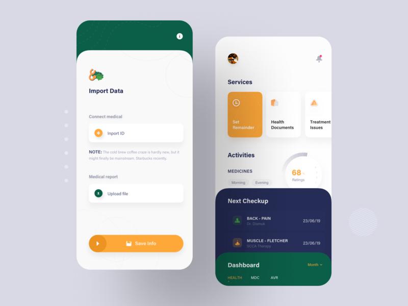 Medical App Concept Design dashboard app inspiration app design ios app ios services treatment medication medicine medical