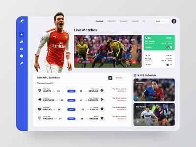 Live Match Web UI game live match website design ui web website sports match live
