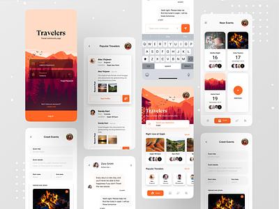 Travel Community App. casestudy design illustration google booking.com android app app design icon ui web ios guide app design travelling travel agency travel app traveling travel