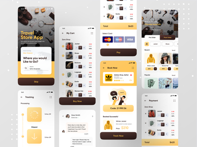 Travel Store App ios app illustration ofspace ecommerce design ecommerce app ecommerce store travel store wallet app booking system booking.com bookings booking travel agency travelling traveling travel app travel