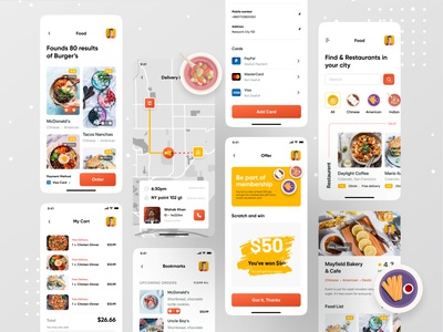 Food Application food design food and beverage foodie food app design food app ui kfc delivery service delivery delivery app ofspace healthy health care health app food illustration food and drink food app food