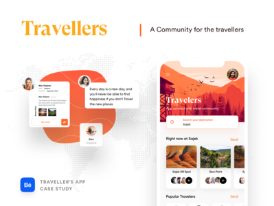 Travellers Cast Study illustration app design icon ui web ios guide app design website design web design webdesign ofspace casestudy case study travel website booking.com booking app travelling booking travel agency travel app traveling travel