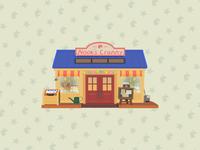 Nook's Cranny digital illustrator illustration vector simple clean flat design flat building tom nook video games nintendo switch nintendo animal crossing