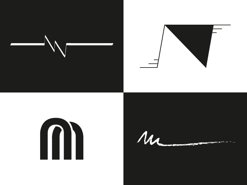Personal Identity Logo Exploration typography branding design rough digital vector brand black and white simple logo logos experimentation exploration