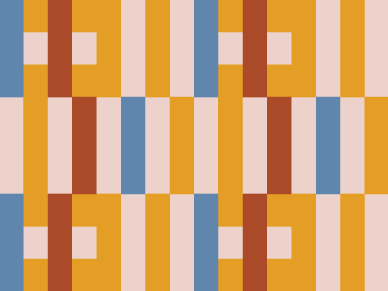 Knot So pattern shapes simple retro experiment bauhaus anni albers vector illustrator