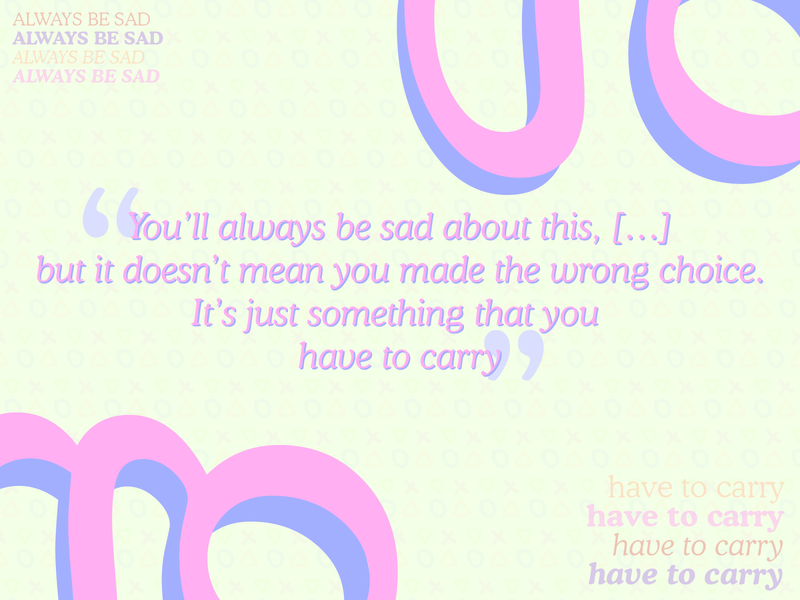 Just Something You Have To Carry light illustrator digital pastel pattern vector quote typography