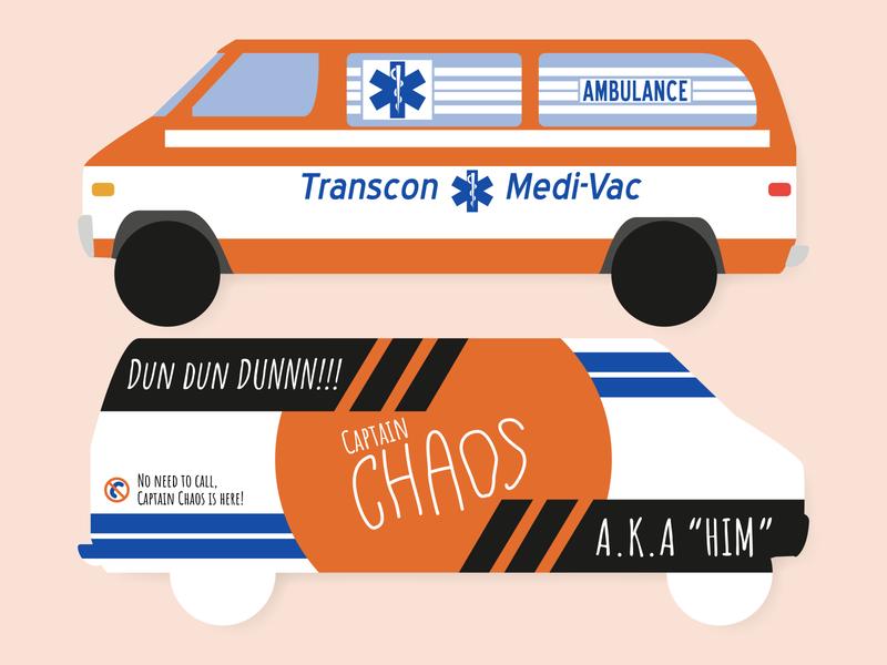 Captain Chaos Card typography adobe illustrator design practice experiment business card cars 70s canonball run dribbbleweeklywarmup