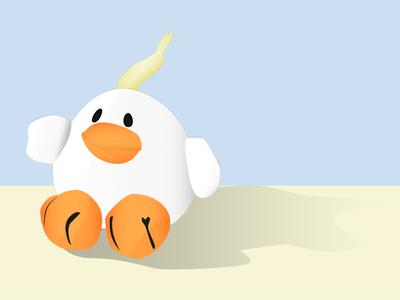 Bounce vector chicken digital grainy stuffed animal illustrator grain illustration