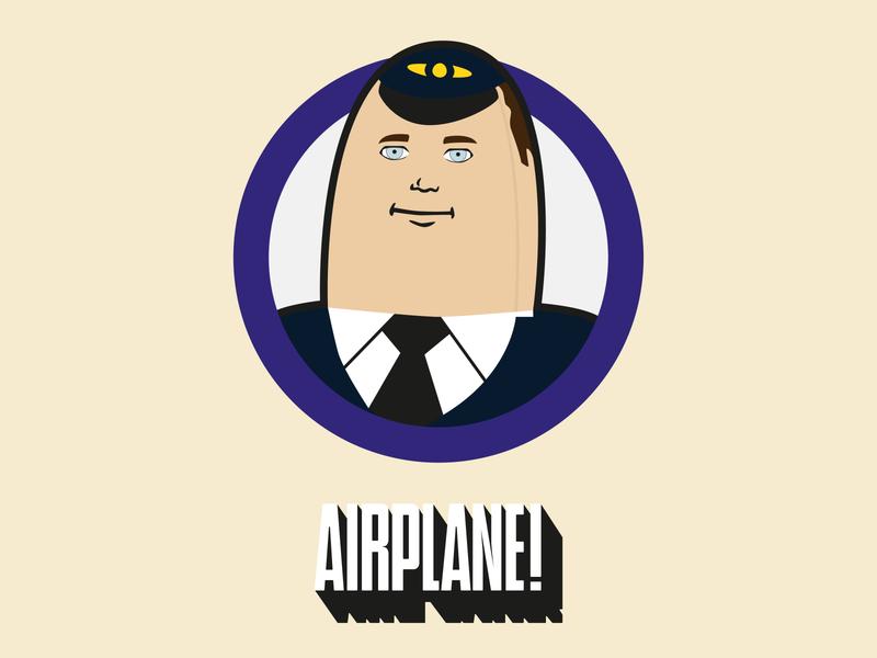 Introducing Otto As Himself digital flat simple clean icon outlined outlines airplane movie film vector illustrator dribbbleweeklywarmup