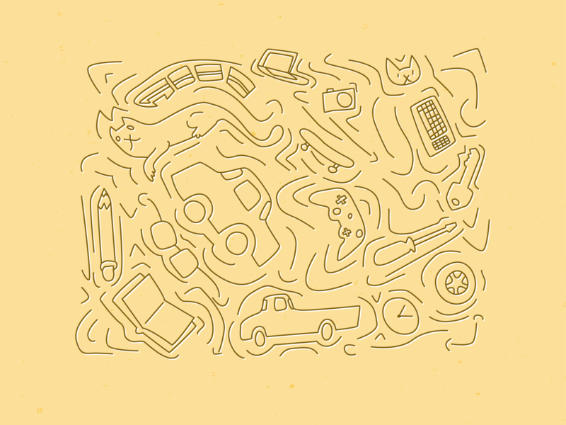 Scribbles n Bits sketch doodle simple digital vector illustrator texture pattern illustration