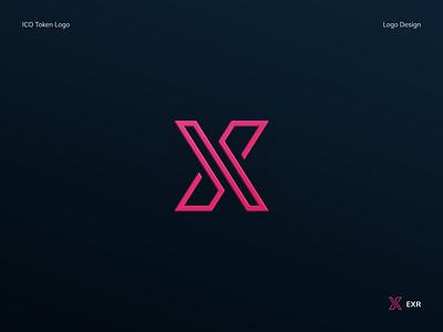EXR Token Logo lines x app finance cryptocurrency logo