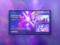 TV app mock-up