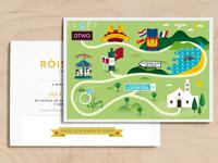 Wedding Map Invitation