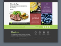 Hints & Tips Section and Simple Footer Design