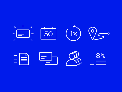 Outlined icons for svrbank.ru