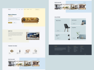 Handmade furniture store concept home page