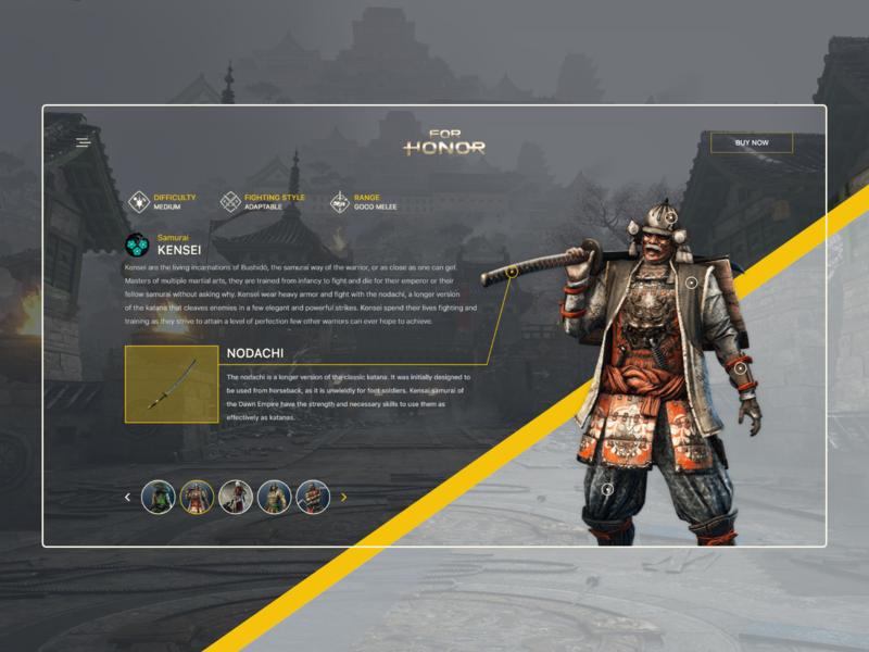 For Honor - KENSEI samurai kensei daily webdesign ux uiux ui for honor