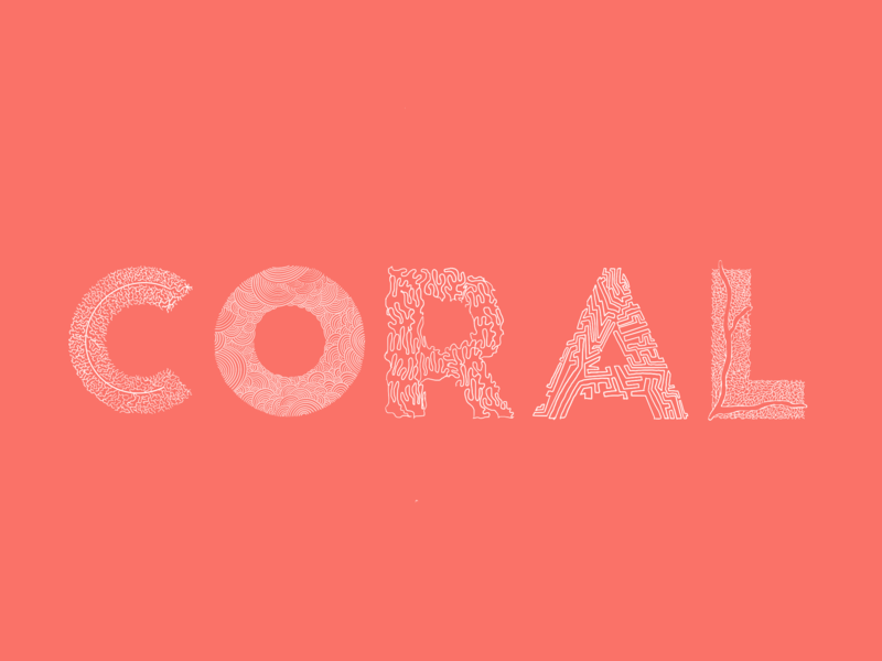 Living? Coral graphic design student living coral pantone coral type as form illustrative type lettering handmadetype typography illustration design