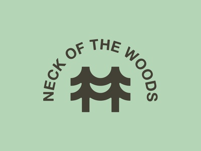 Neck of The Woods by Fhoke happy smile trees tree branding logodesign logo