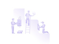 Subtle Service Business Illustrations