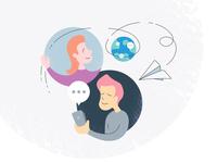 Communication App Illustration