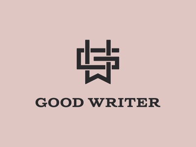 Good Writer hipster ribbon bookmark paperclip