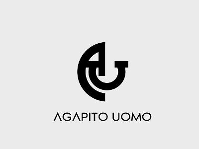 Agapito uomo identity fashion icon branding logo