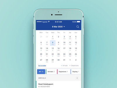 Calendar interaction app ux ui interaction